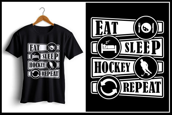 Download Free Eat Sleep Hockey Repeat Graphic By Zaibbb Creative Fabrica for Cricut Explore, Silhouette and other cutting machines.