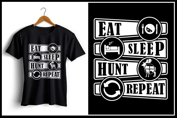 Download Free Eat Sleep Hunt Repeat Graphic By Zaibbb Creative Fabrica SVG Cut Files