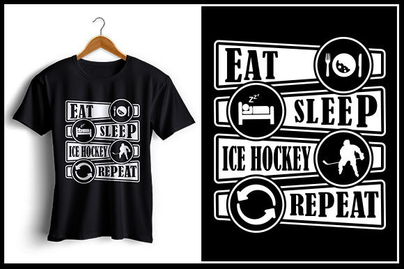 Download Free Eat Sleep Ice Hockey Repeat Grafico Por Zaibbb Creative Fabrica SVG Cut Files