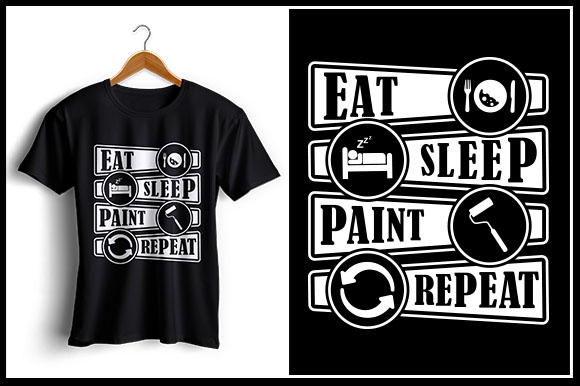 Download Free Eat Sleep Paint Repeat Creative Fabrica for Cricut Explore, Silhouette and other cutting machines.