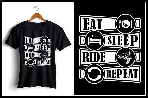 Download Free Eat Sleep Ride Repeat Graphic By Zaibbb Creative Fabrica for Cricut Explore, Silhouette and other cutting machines.