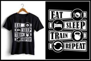 Download Free Eat Sleep Train Repeat Grafico Por Zaibbb Creative Fabrica for Cricut Explore, Silhouette and other cutting machines.