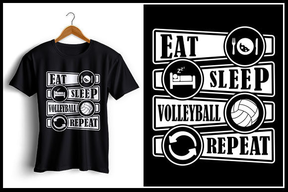 Download Free Eat Sleep Volleyball Repeat Graphic By Zaibbb Creative Fabrica SVG Cut Files