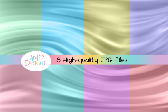 Eight Pastel Silk Backgrounds Overlays Graphic Backgrounds By AM Digital Designs