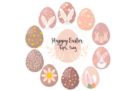 Download Free Esster Egg Clipart Easter Bunny Clipar Graphic By Igraphic for Cricut Explore, Silhouette and other cutting machines.