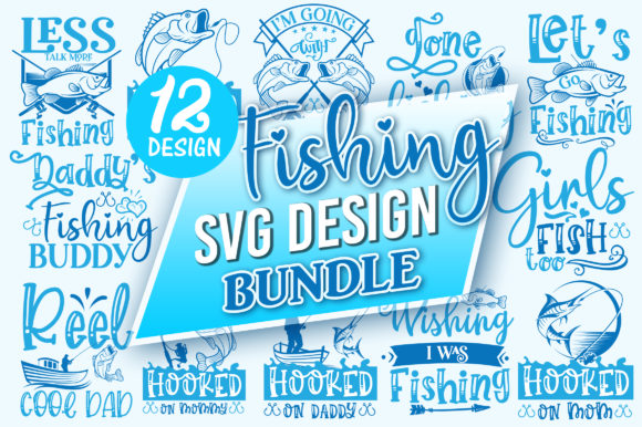 Print on Demand: Fishing SVG Design Bundle Graphic Crafts By DesignFarm