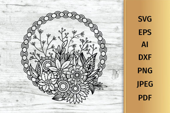 Print on Demand: Floral Bouquet Svg Graphic Crafts By elionorik