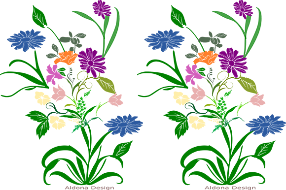 Print on Demand: Flowers Graphic Patterns By arts4busykids