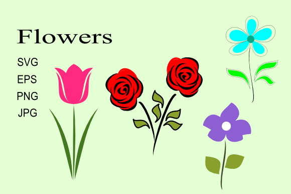 Print on Demand: Flowers on Stems Graphic Illustrations By artbyliz