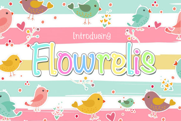 Print on Demand: Flowrelis Color Fonts Font By iyhulmonsta
