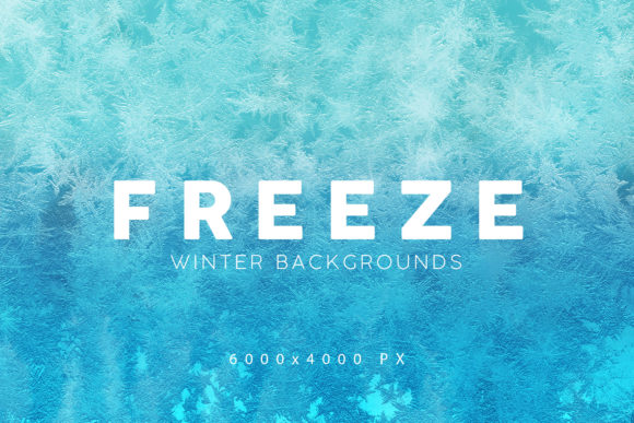 Print on Demand: Freeze Winter Backgrounds Graphic Backgrounds By ArtistMef