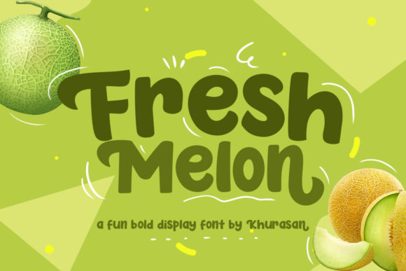 Print on Demand: Fresh Melon Display Font By Khurasan