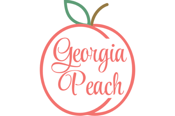 Download Free Georgia Peach Thin Svg Printable Files Graphic By Am Digital for Cricut Explore, Silhouette and other cutting machines.