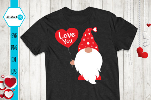 Gnome Love Svg, Valentines Gnomie Svg Graphic Crafts By All About Svg - Image 2