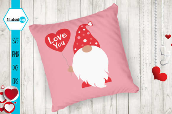 Gnome Love Svg, Valentines Gnomie Svg Graphic Crafts By All About Svg - Image 3