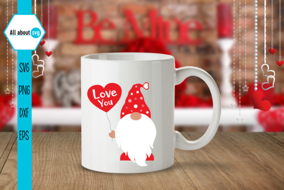 Gnome Love Svg, Valentines Gnomie Svg Graphic Crafts By All About Svg - Image 4