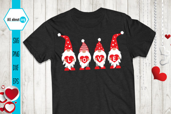 Gnomies Love Svg, Valentines Gnomies Svg Graphic Crafts By All About Svg - Image 2