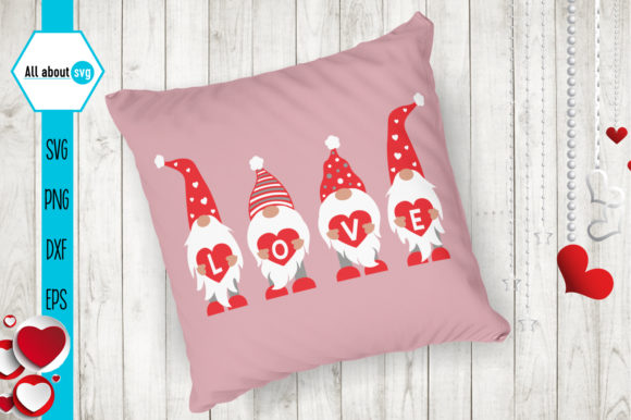 Gnomies Love Svg, Valentines Gnomies Svg Graphic Crafts By All About Svg - Image 3