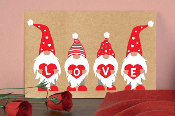 Gnomies Love Svg, Valentines Gnomies Svg Graphic Crafts By All About Svg - Image 4