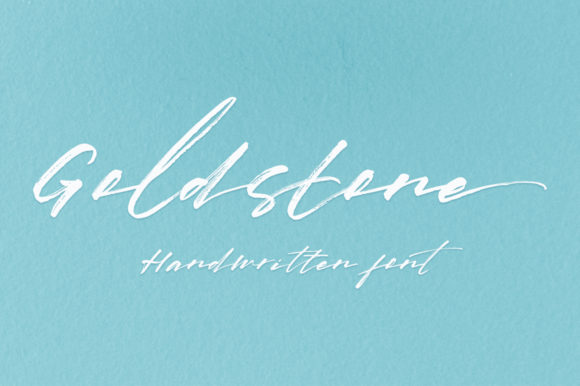 Print on Demand: Gold Stone Script & Handwritten Font By Franstudio