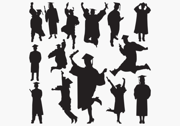 Graduation Silhouettes Graphic Crafts By octopusgraphic