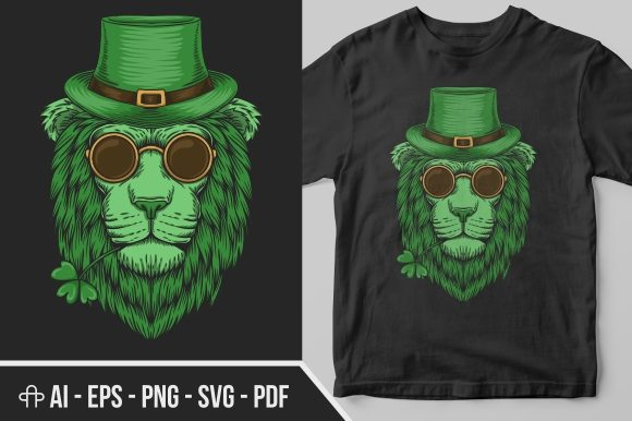 Download Free Green Lion Head St Patrick S Day Graphic By Andypp Creative for Cricut Explore, Silhouette and other cutting machines.
