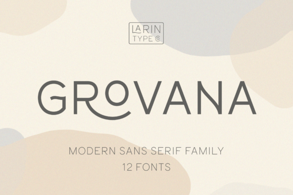 Print on Demand: Grovana Sans Serif Font By Pasha Larin