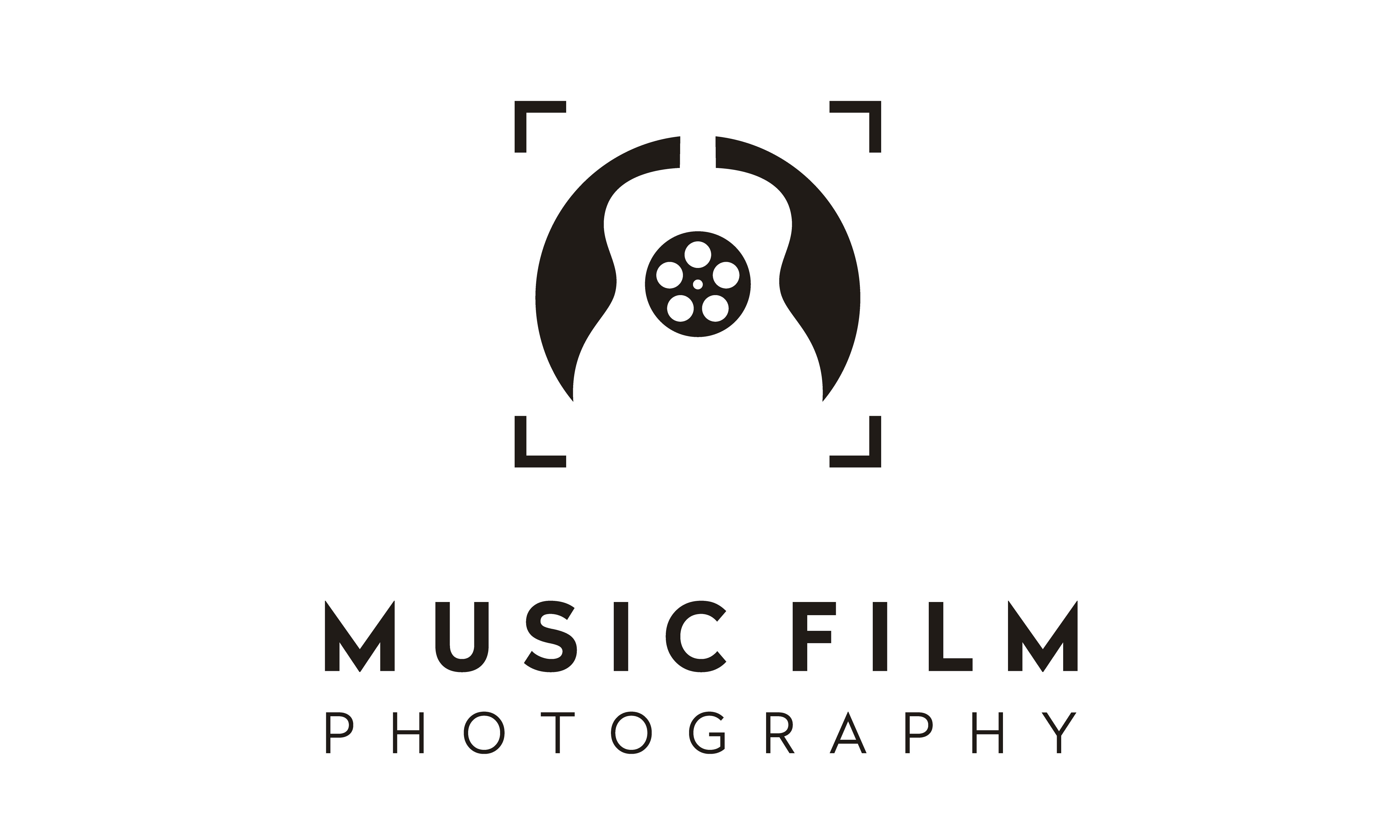 Download Free Guitar Music Film Reel Focus Lens Logo Graphic By Enola99d for Cricut Explore, Silhouette and other cutting machines.