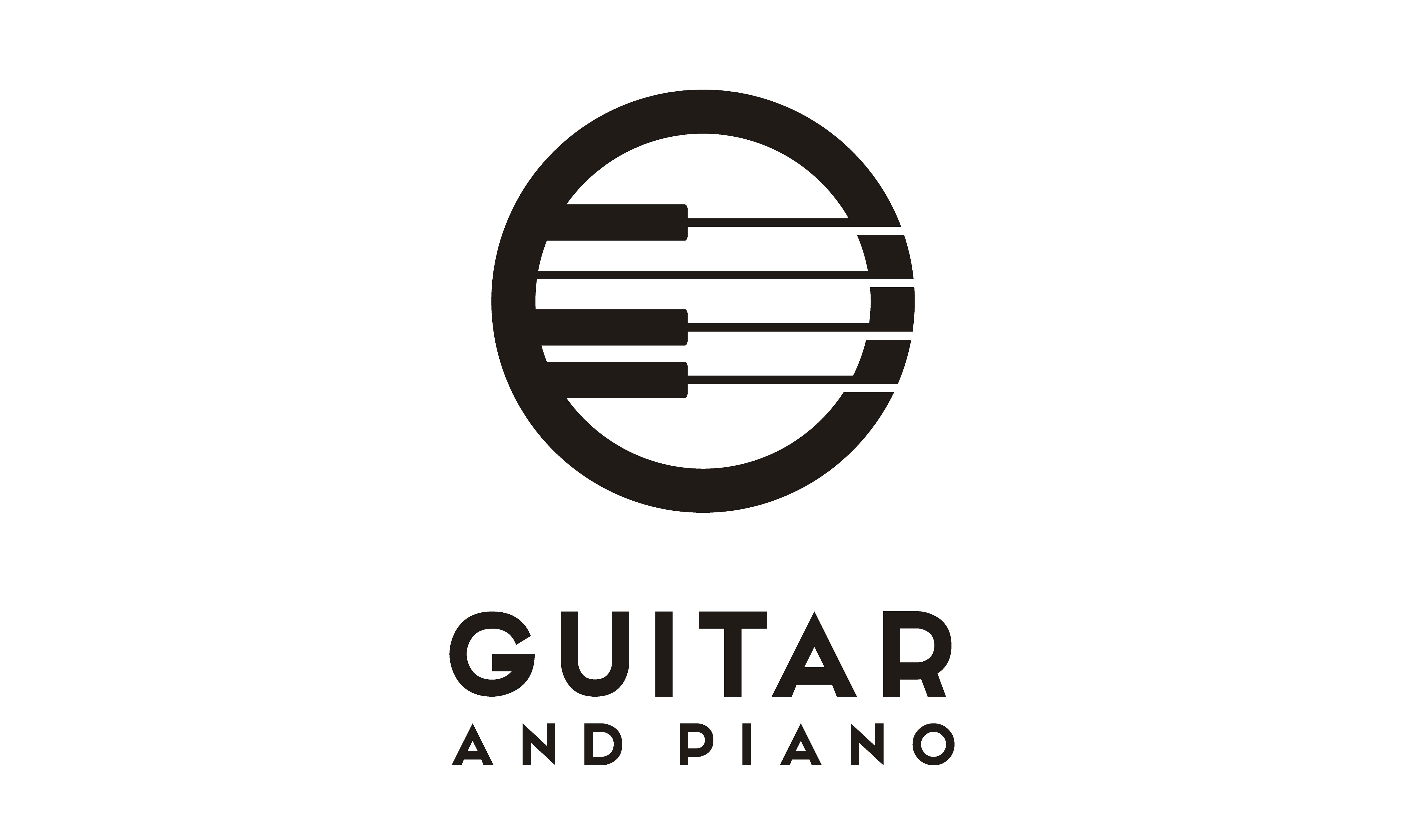 Download Free Guitar Strings And Piano Key Music Logo Graphic By Enola99d for Cricut Explore, Silhouette and other cutting machines.