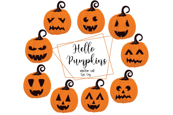 Download Free Halloween Pumpkin Clipart Halloween Graphic By Igraphic Studio for Cricut Explore, Silhouette and other cutting machines.