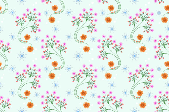 Hand Drawn Pink Flowers Seamless Pattern Graphic Patterns By ranger262