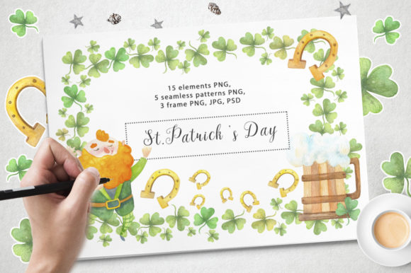 Print on Demand: Happy  St.Patrick 's Day Graphic Illustrations By By Anna Sokol