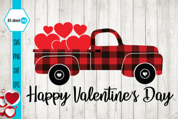 Happy Valentines Day Svg, Truck Svg Graphic Crafts By All About Svg