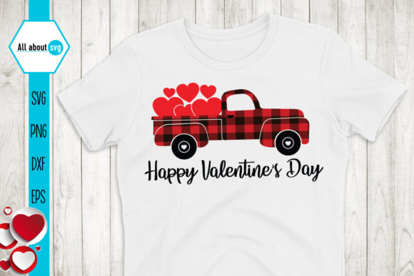 Happy Valentines Day Svg, Truck Svg Graphic Crafts By All About Svg - Image 2