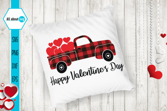 Happy Valentines Day Svg, Truck Svg Graphic Crafts By All About Svg - Image 4
