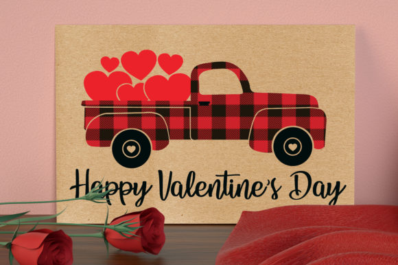 Happy Valentines Day Svg, Truck Svg Graphic Crafts By All About Svg - Image 5