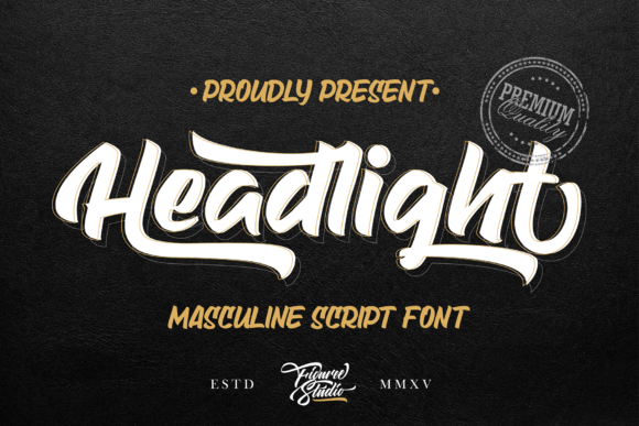 Print on Demand: Headlight Script & Handwritten Font By figuree studio