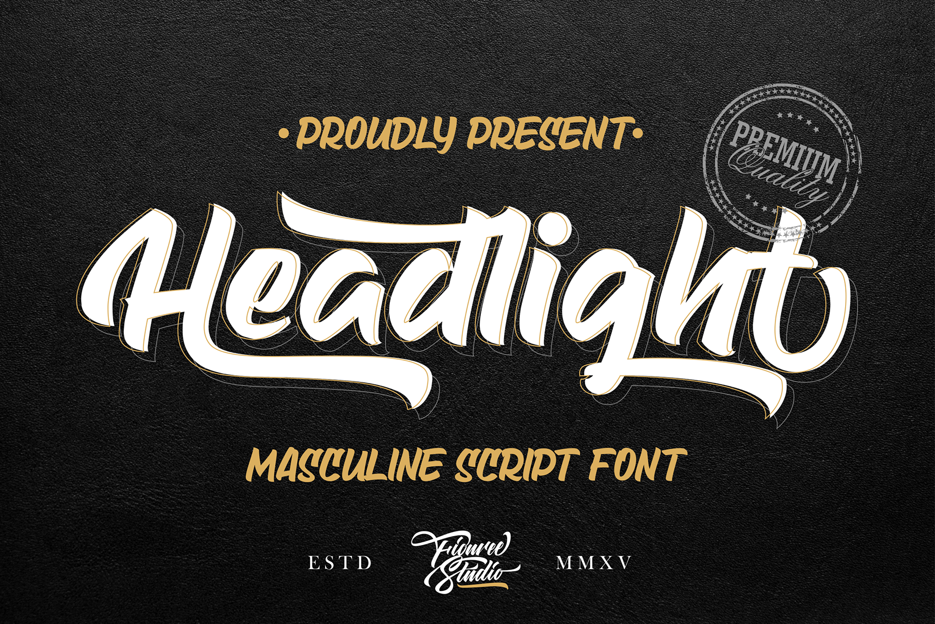 Download Free Headlight Font By Figuree Studio Creative Fabrica for Cricut Explore, Silhouette and other cutting machines.
