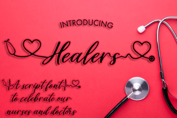 Print on Demand: Healers Manuscrita Fuente Por freelingdesignhouse