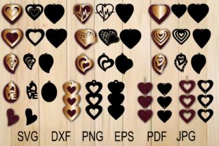 Print on Demand: Heart Earring Template Graphic Crafts By yulnniya