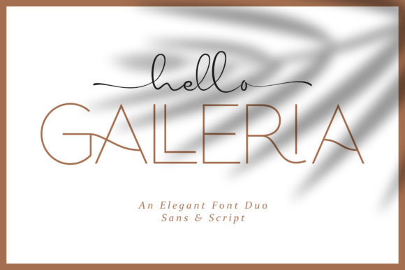 Print on Demand: Hello Galleria Script & Handwritten Font By andikafez