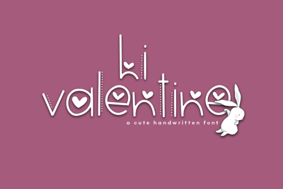 Print on Demand: Hi Valentine Display Schriftarten von KA Designs