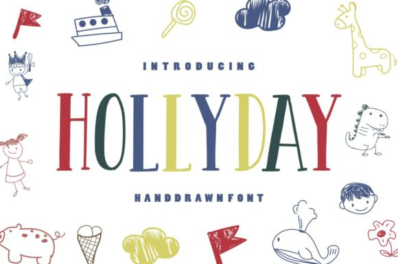 Print on Demand: Hollyday Display Font By goodjavastudio