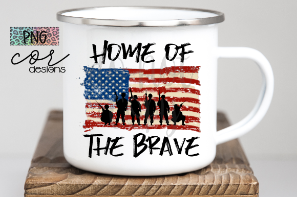 Print on Demand: Home of the Brave  Graphic Crafts By designscor