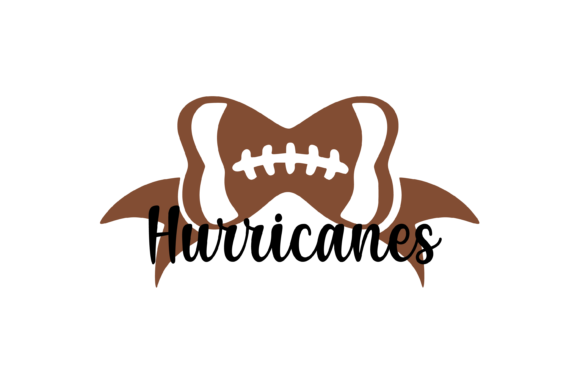 Download Free Hurricanes Football Bow Svg Graphic Graphic By Am Digital for Cricut Explore, Silhouette and other cutting machines.