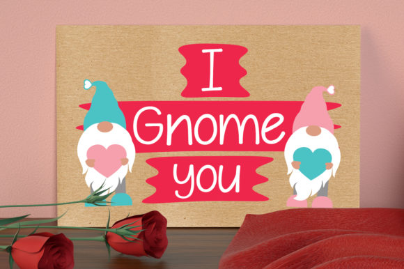 I Gnome You Svg, Valentines Gnomies Svg Graphic Crafts By All About Svg - Image 5