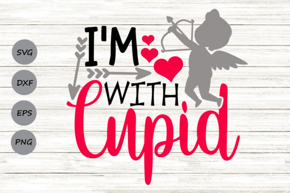 Download Free I M With Cupid Svg Graphic By Cosmosfineart Creative Fabrica for Cricut Explore, Silhouette and other cutting machines.