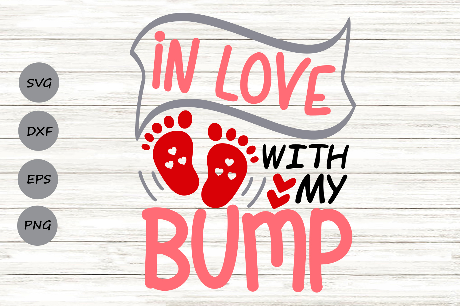 Download Free In Love With My Bump Svg Graphic By Cosmosfineart Creative for Cricut Explore, Silhouette and other cutting machines.