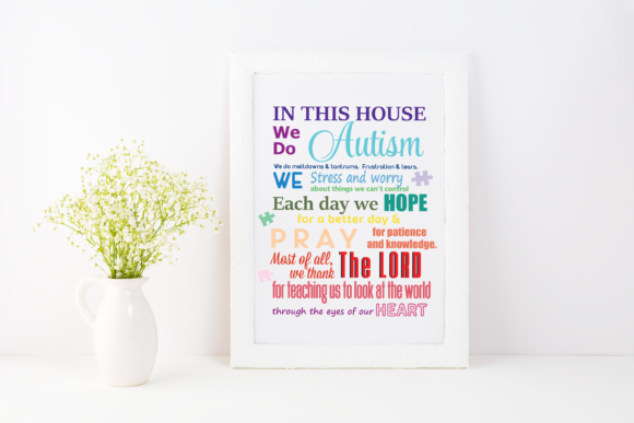 Print on Demand: In This House We Do Autism Graphic SVG Graphic Print Templates By AM Digital Designs