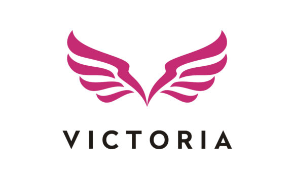 Download Free Initial Letter V Victoria Fly Wings Logo Graphic By Enola99d for Cricut Explore, Silhouette and other cutting machines.